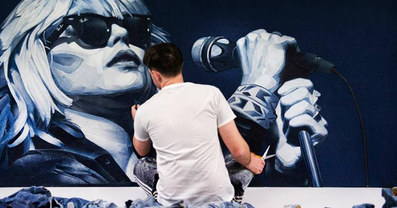 Джинсовые портреты знаменитостей Иэна Берри (15фото)