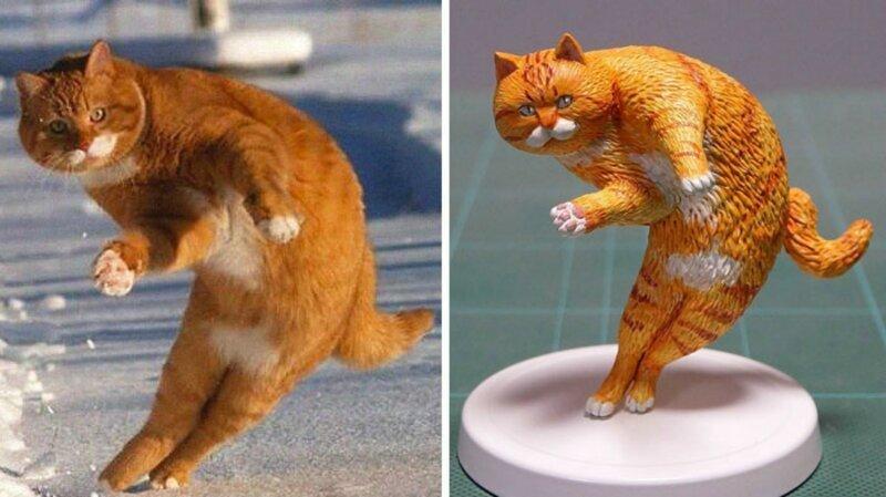 Японский художник превращает мемы с животными в скульптуры (31фото)
