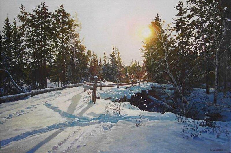 Александр Самохвалов. Зимние пейзажи. Есть что посмотреть (25фото)
