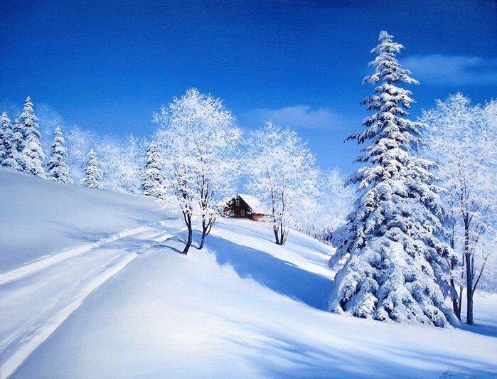 Евгений Карлович и его чарующие зимние пейзажи (19фото)