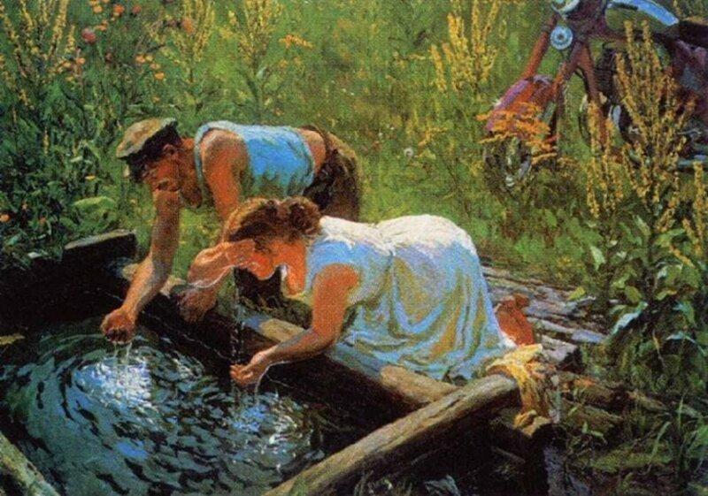 Деревенская жизнь в картинах советских художников (11фото)