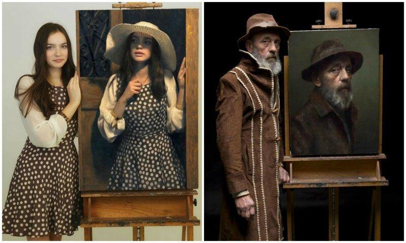 Польский художник показал моделей со своих портретов - сходство поражает (21фото)