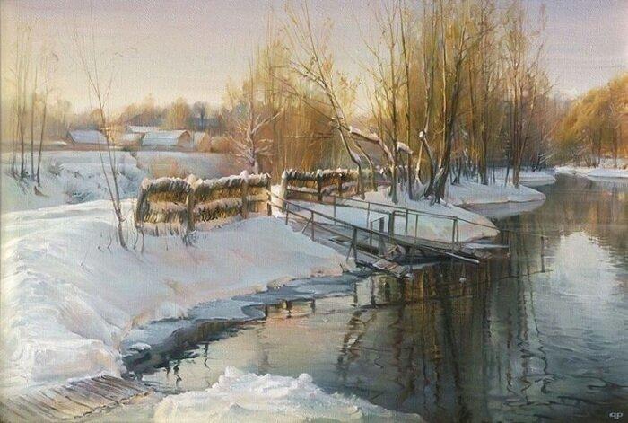 Роман Романов - художник, который на своих полотнах заставляет оживать природу (11фото)