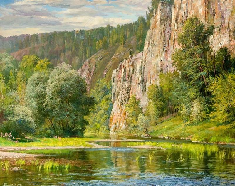 Уральские горы на картинах российского художника Алексея Александровича Петрикова (30фото)