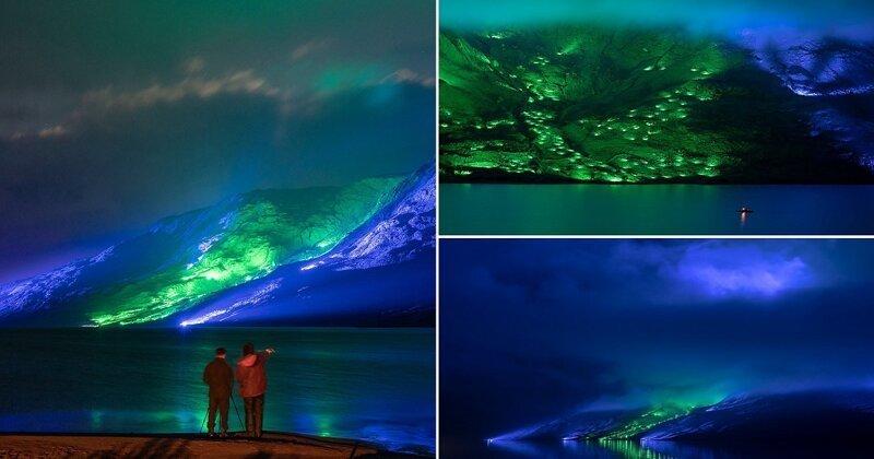 Горы Коннемары замерцали огнями в преддверии Дня святого Патрика (5фото+1видео)