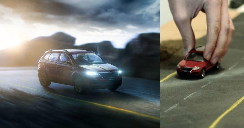 Молодой фотограф создает потрясающие рекламные фото для автомобильных брендов, используя только игрушечные машинки (23фото+3видео)