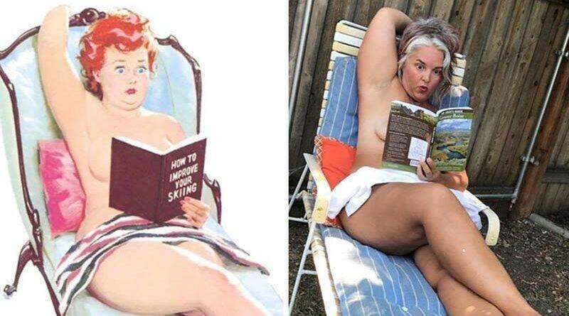Женщина воссоздаёт классические пинап-иллюстрации 1950 годов (25фото)