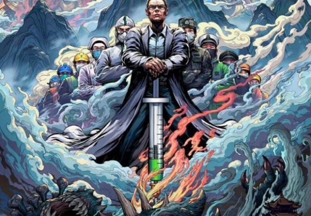Художники создают иллюстрации, отражающие героическую борьбу врачей из КНР с коронавирусом (15 фото)