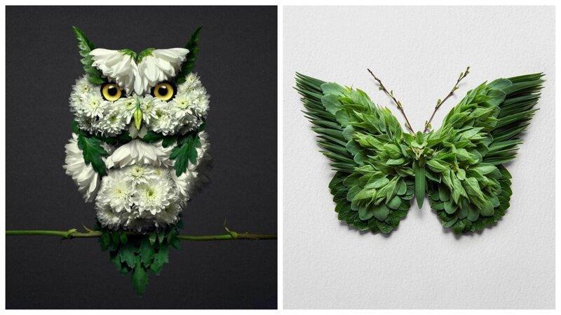 Цветочный зверинец: художник создает скульптуры животных из растений (31фото)