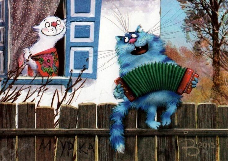 Коты минской художницы Ирины Зенюк. Ассорти. 3 часть (35фото)