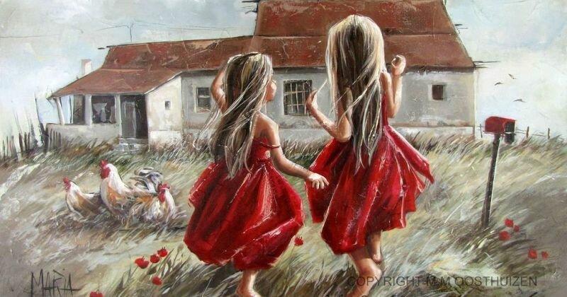 Мария Магдалена Остхейзен: художница, рисующая собственное счастье (18фото)