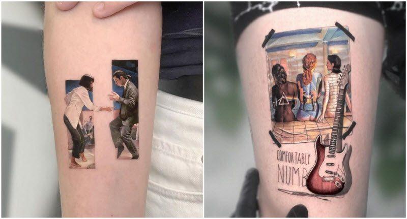 Израильский художник создаёт уникальные татуировки с героями поп-культуры (26 фото)