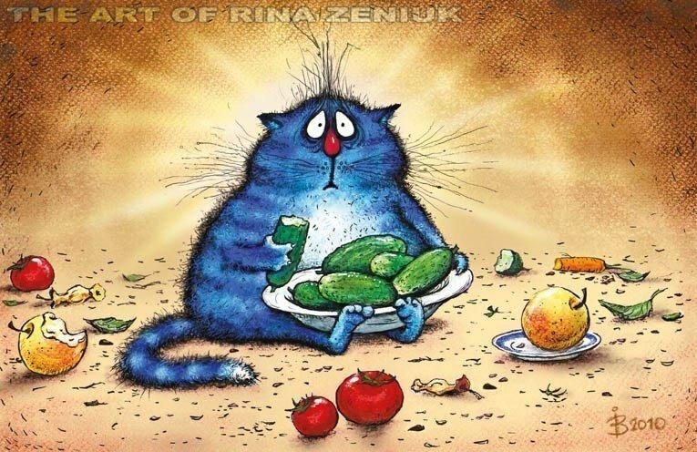 Коты минской художницы Ирины Зенюк. Ассорти 2 часть (35фото)