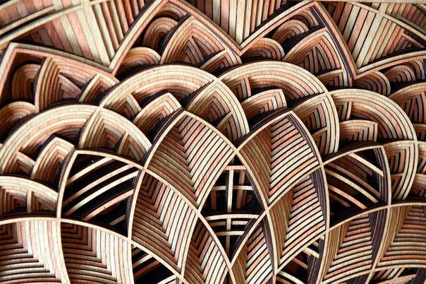 Замысловатая и изящная резьба по дереву от Габриэля Шама (7фото)