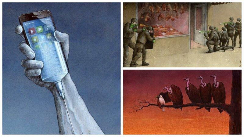 Польский карикатурист удивительно точно описывает болезни нашего общества (31фото)