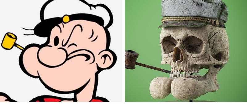 Как выглядели бы черепа мультяшных персонажей? (13фото)