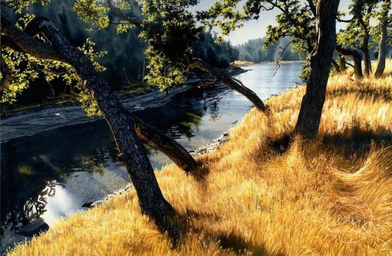 Акварельный реализм: удивительные пейзажи Кэрол Эванс (23фото)