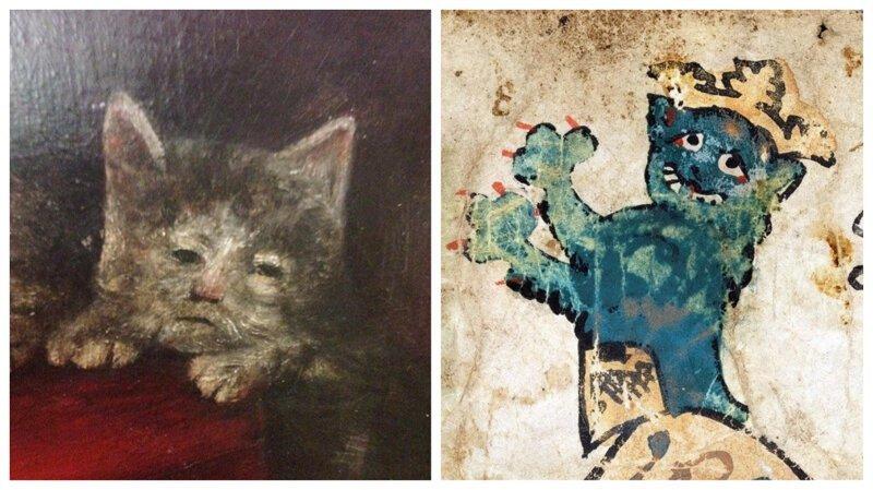 22 доказательства того, что средневековые художники не умели рисовать кошек (23фото)