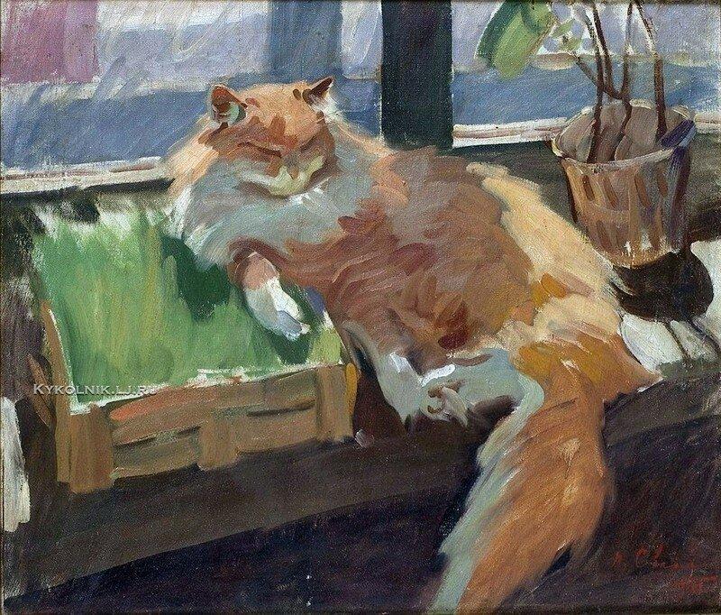 Кошки в советском искусстве (40фото)