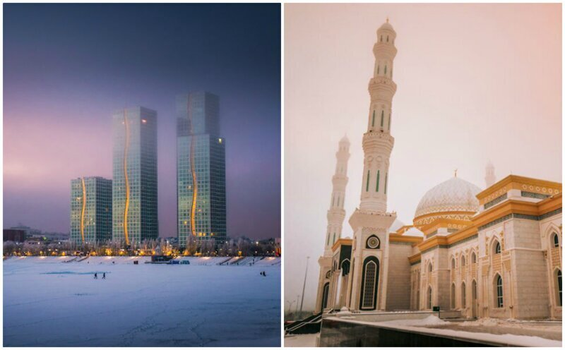 Нур-Султан: фотограф прогулялся по столице Казахстана, охваченной морозами (31фото)