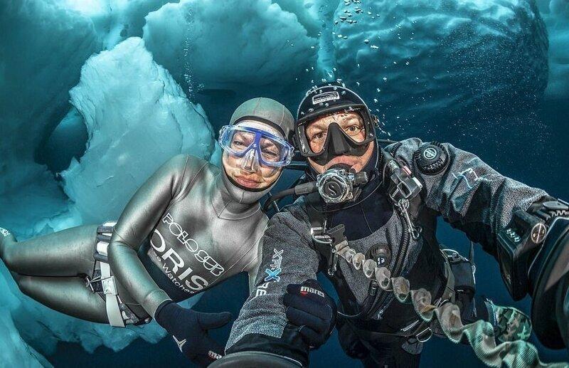 Дайверы сделали потрясающие снимки под айсбергами (11фото)