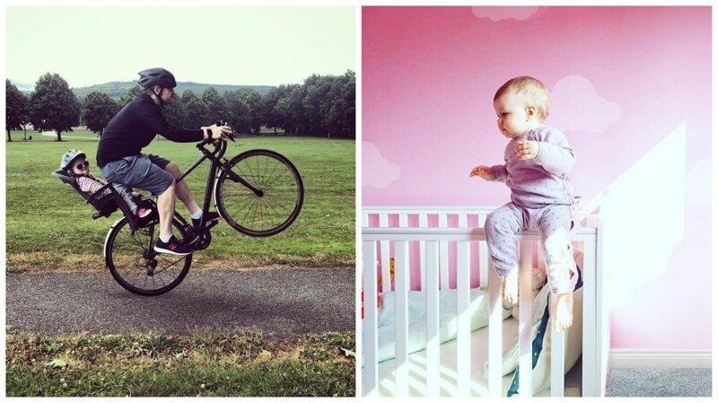 Фотошопер помещает свою маленькую дочь в опасные ситуации (11фото)