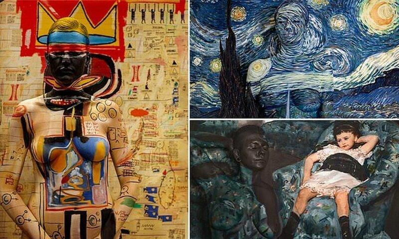 Бодиарт-художница вдохнула новую жизнь в классические шедевры (9фото)
