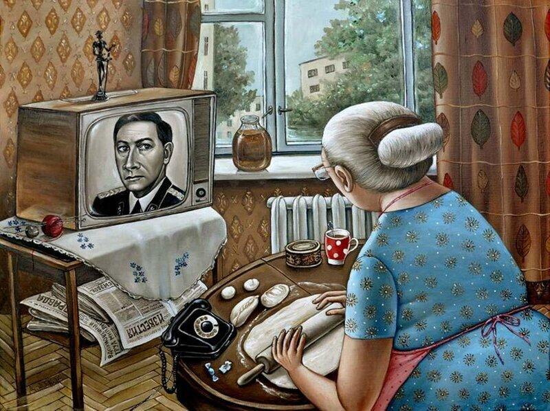 Путешествие в СССР: картины художницы Анжелы Джерих 2 часть (50фото)