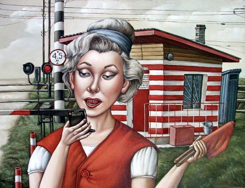 Путешествие в СССР: картины художницы Анжелы Джерих 1 часть (50фото)