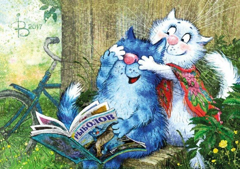 Коты минской художницы Ирины Зенюк. Ассорти. 4 часть (39фото)