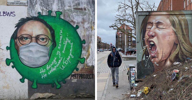 Уличные художники против коронавируса (30фото)