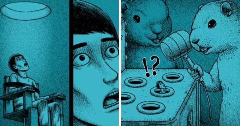 15 жутковатых комиксов с неожиданным поворотом событий (35фото)