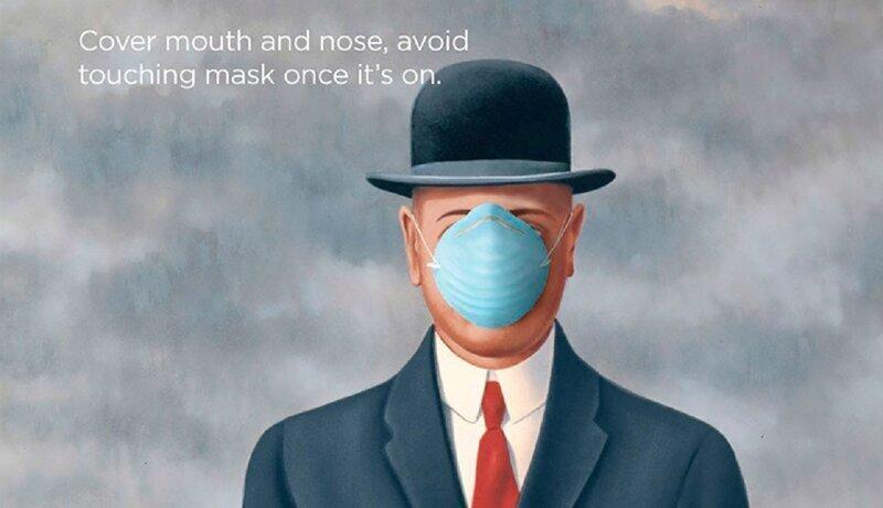 Великие художники учат правильно вести себя во время эпидемии (10фото)