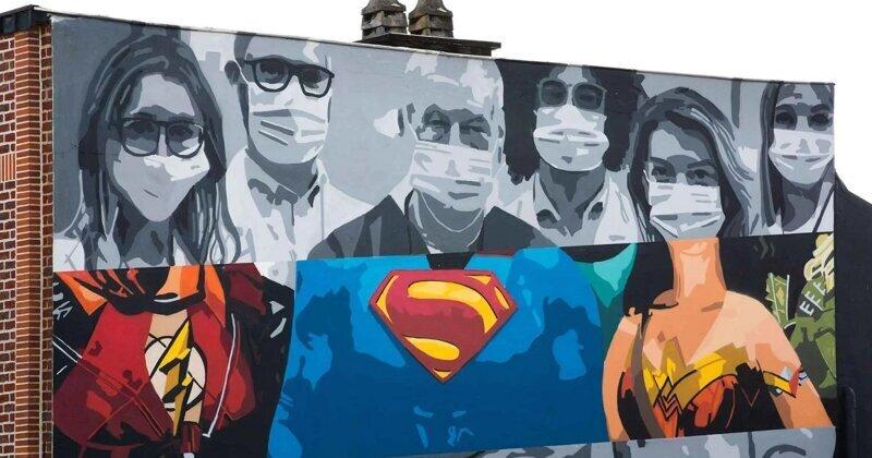 17 произведений уличного искусства со всего мира, посвященных теме коронавируса (17фото)