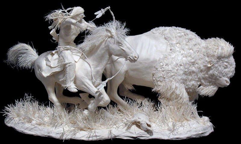 Бумажные скульптуры (17фото)