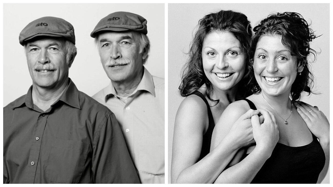 30 портретов людей, не связанных кровным родством, но очень похожих друг на друга (31фото)