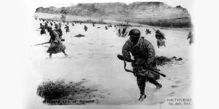 Рисунки красноармейца Жданова: Сталинградская битва (17фото)