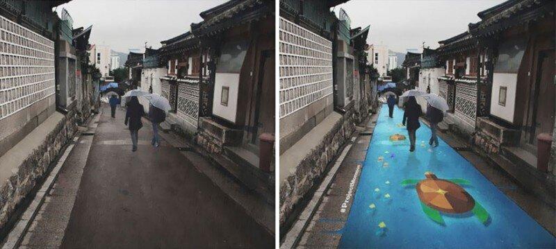 Как корейцы победили хмурость и серость в сезон дождей (5фото)