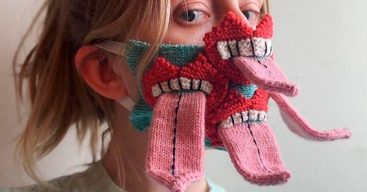 Исландская художница вяжет маски для любителей монстров (14фото)