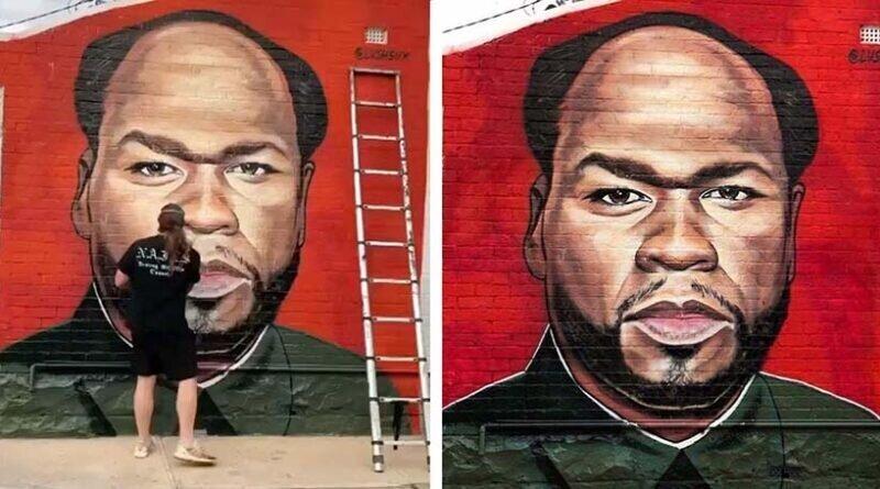 Граффити-художник троллит рэпера 50 Cent (10фото)