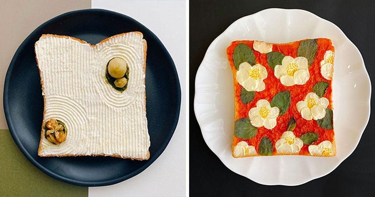 17 изящно украшенных тостов от японской художницы (18фото)