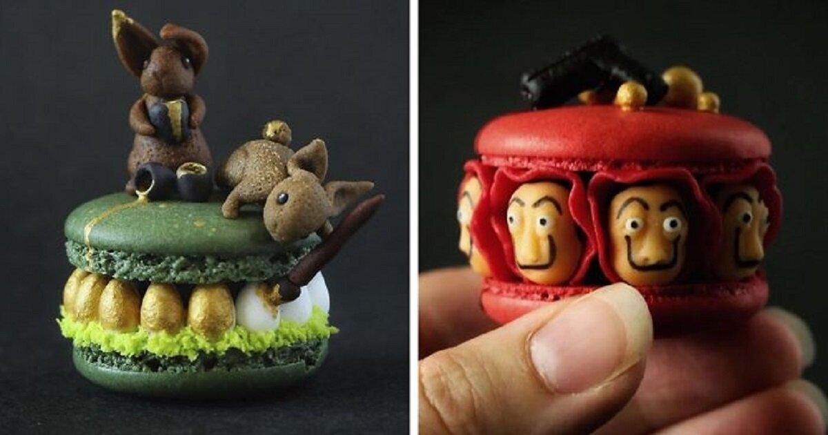 Швейцарский кондитер превращает макарони в произведения искусства (28фото)