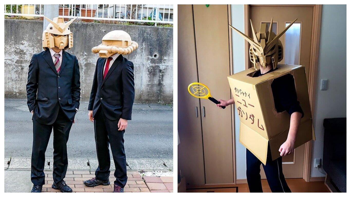 Японский художник создает удивительные маски Gundam (28фото)