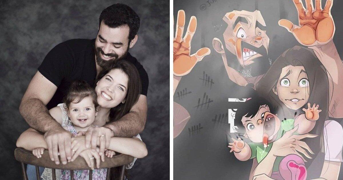 Знаменитая мультипликационная пара показала свою дочь (12фото)