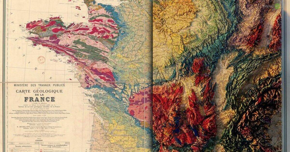 Картография нового уровня: Вторая жизнь старых геологических карт (22фото)