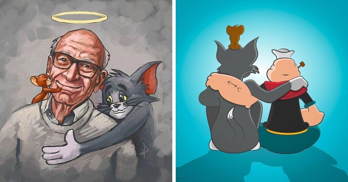 16 иллюстраций в память о Джине Дейтче (16фото)