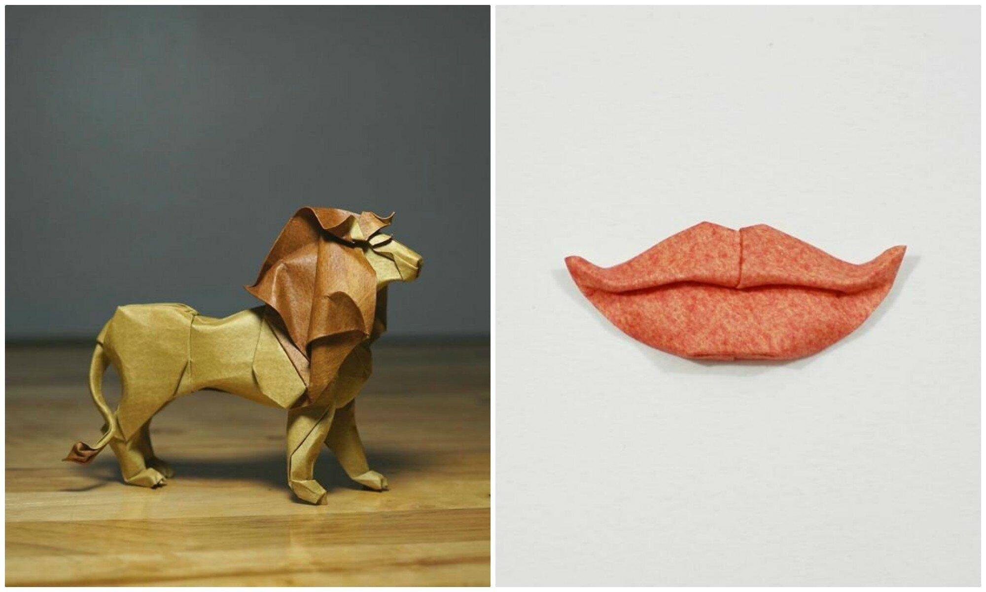 Новый уровень творчества: оригами из влажной бумаги (31фото)