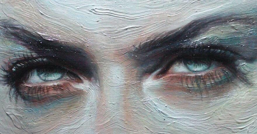 Удивительная работа художника, которая передает эмоции, рисуя только глаза (15фото)