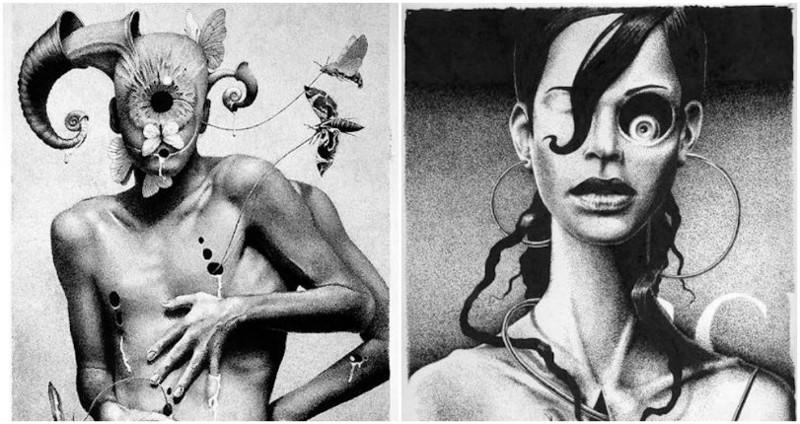 Извращенный эротический сюрреализм в работах русского художника Дмитрия Ворсина (18фото)