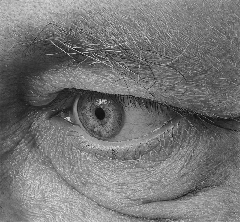Широко открытые глаза: детализированные карандашные рисунки Флавио Апеля (7фото)